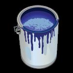 pot de peinture bleu loft décoration