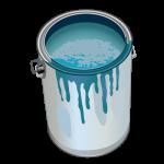 pot de peinture turquoise loft décoration