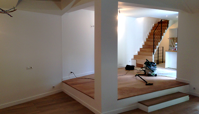 photo 015 - loft décoration - peinture et parquet - la garenne colombes